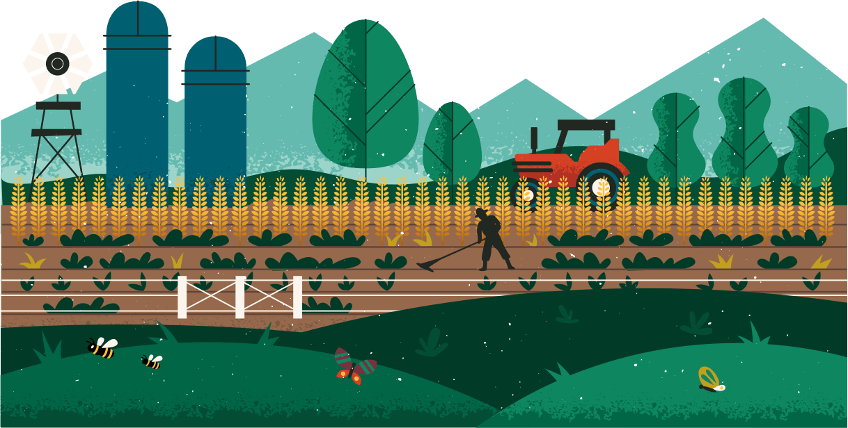 working farm illustration