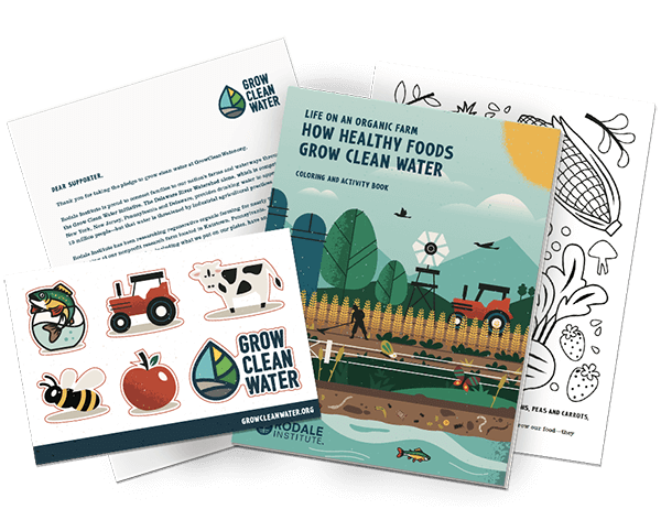 Grow Clean Water Pledge Kit with stickers & coloring book